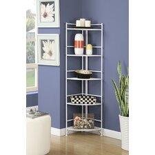 Georgette 5 Tier Folding Metal Shelf 58 Corner Unit Bookcase by Zipcode Design
