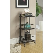 Georgette 3 Tier Folding Metal Shelf 32 Etagere Bookcase by Zipcode Design