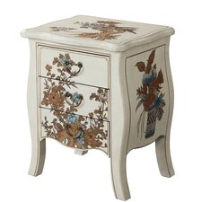 Raiden 3 Drawer End Table by World Menagerie