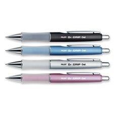 Pen, Gel, Retractable, 1/CD, Black Ink/Assorted Barrel