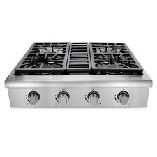 """Professional 30"""" Gas Cooktop with 4 Burners"""
