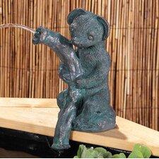 Sidney Stoat Liberty Woodland Water Resin Solar Fountain