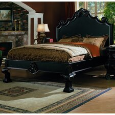 Liege Eastern King Panel Bed In Black Finish