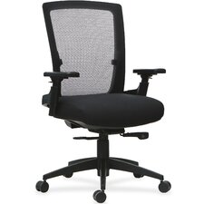 3D Rotation Armrests Mid-Back Mesh Desk Chair by Lorell