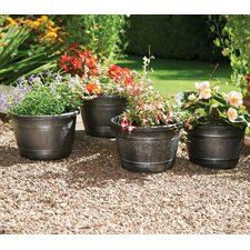Effect Barrell Round Plant Pot (Set of 4)