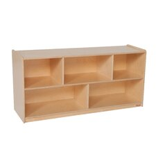 Single 5 Compartment Shelving Unit with Casters