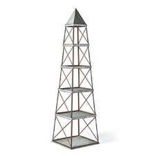 Fleta Obelisk 5-Shelf 96 Etagere Bookcase by Laurel Foundry Modern Farmhouse
