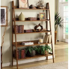 "Wooden 72"" Corner  Bookcase"