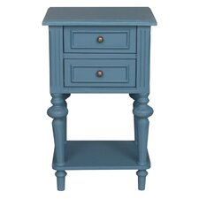 Saire Indoor 2 Drawer End Table by Laurel Foundry Modern Farmhouse