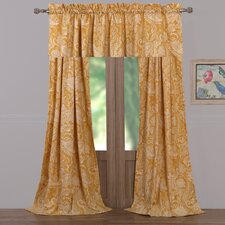 Samsara Paisley Sheer Rod Pocket Single Curtain Panel