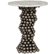 Bolla Metal End Table with Stone Top by Noir