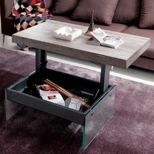 Logan Matt Graphite Coated Metal Structure Glass Legs Multifunctional Coffee Table by YumanMod