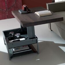Ace Matt Graphite Coated Metal Structure Glass Shelf Multifunctional Coffee Table by YumanMod