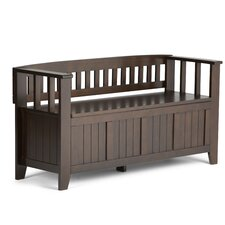 Acadian Two Seat Storage Entryway Bench