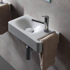 """Hung 16"""" Wall Mounted Bathroom Sink"""