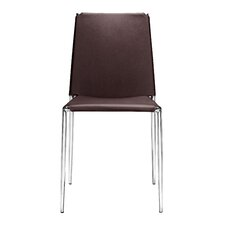 Zaria Dining Chair with Leatherette Seat (Set of 4)