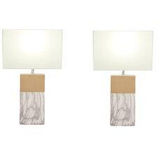"Rectangular 25"" Table Lamp Set (Set of 2)"