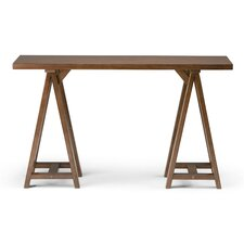 Sawhorse Console Table  by Simpli Home