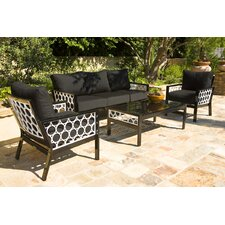 Parkview Cast 4 Piece Deep Seating Group with Cushions by Koverton