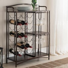 Floyd Metal Storage 21 Bottle Floor Wine Bottle Rack