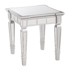 Donovan Glam Mirrored Square End Table by House of Hampton