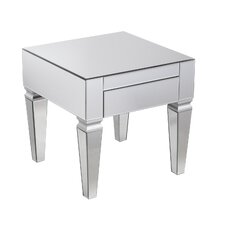 Whittaker Contemporary Mirrored Square End Table by House of Hampton
