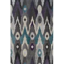 Teagan Black/Grey Ikat Graphite Area Rug
