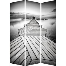180cm x 120cm Calm Jetty Partition 3 Panel Room Divider