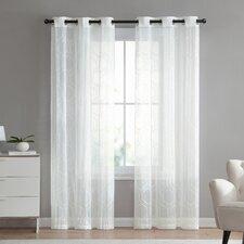 Bohler Geometric Blackout Grommet Curtain Panels (Set of 2)