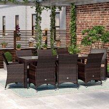 8-Sitzer Gartengarnitur Akebia mit Polster