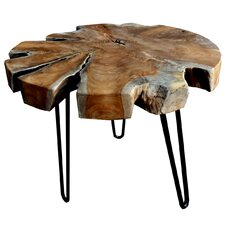 Teak Trunk Accent End Table by D-Art Collection