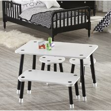 Rowan Valley Clover Kids 4 Piece Rectangular Table and Chair Set