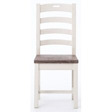 Malinda Ladder Back Solid Wood Dining Chair