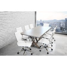 Armis 7' Rectangular 9 Piece Conference Table Set
