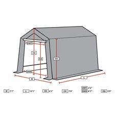Small 7.5 Ft. W x 12 Ft. D Garage