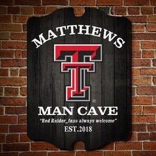 NCAA Man Cave Sign Wall Décor