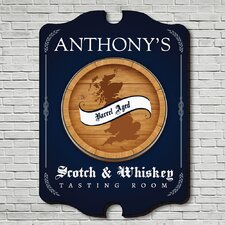 Whiskey Tasting Room Personalized Sign Wall Décor