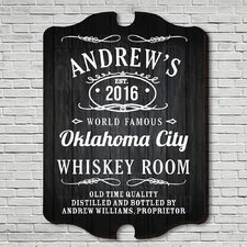 Old Fashioned Whiskey Room Bar Decor Sign Wall Décor