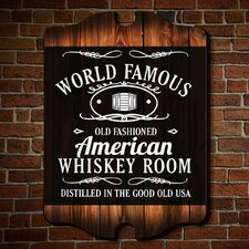 World Famous Whiskey Room Wall Art Sign - Wall Décor