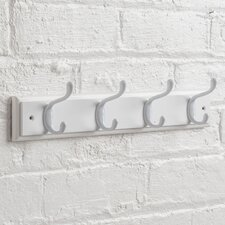 Heritage Wooden Coat Rack with 4 Hooks