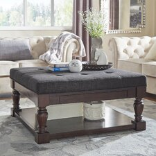 Back East Tufted Trendy Ottoman by Three Posts