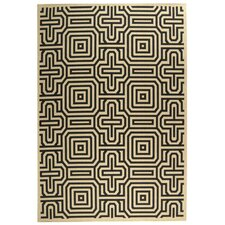 Jefferson Place Sand & Black Outdoor Area Rug