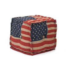 Ray City Stars and Stripes Ottoman by August Grove