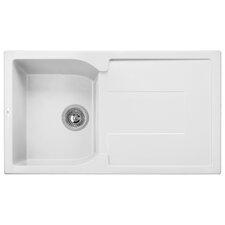 "Granite Composite 34"" x 19"" Drop-In Kitchen Sink"