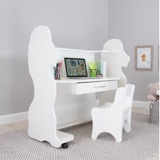 """Lion 41"""" W Writing Desk with Chair"""