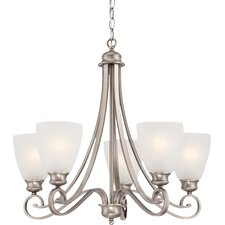 Elinor 5-Light Shaded Chandelier