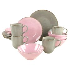 Organic Ella 16 Piece Dinnerware Set, Service for 4