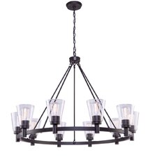 Clarence 10-Light Shaded Chandelier