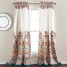 Pierre Paisley Room Darkening Thermal Rod Pocket Curtain Panels (Set of 2)