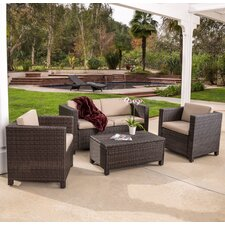 Kappa 4 Piece Seating Group with Cushion by Mercury Row®